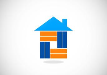 house abstract construction vector logo