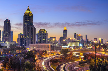 Atlanta, Georgia Skyline at Dawn
