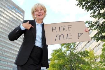 Businesswoman Hire Me