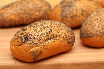 Rolls with poppy seeds