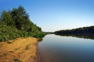River Ural in Kazakhstan