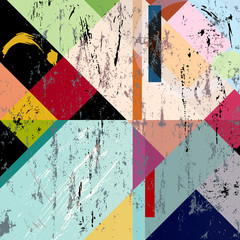 abstract colorful composition, grungy style vector