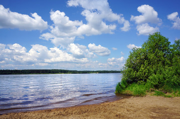 Summer nature, Volga  river