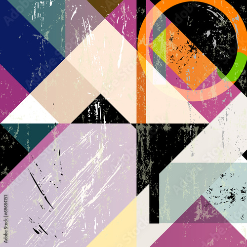 abstract colorful geometric illustration, vector format - 69684151