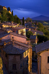 Sunset in Montepulciano, Tuscany, Italy