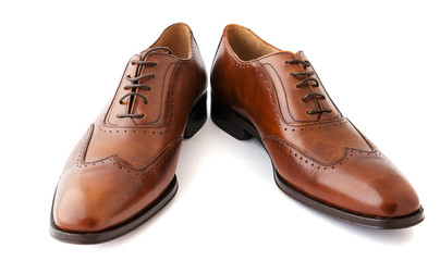 Male fashion shoes on white