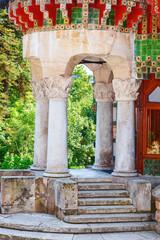 """front porches """"El Capricho"""" of Gaudi (Comillas,Spain)"""