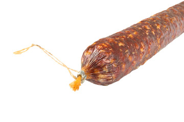 Big summer sausage with rope