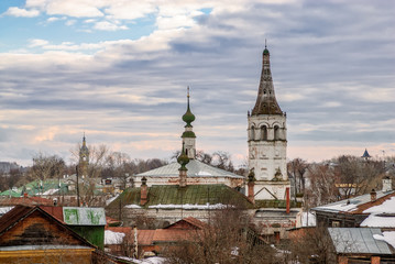 Roofs of russian town Suzdal