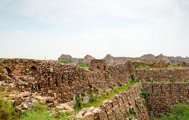 Ruins of Tughlaqabad Fort in Delhi, India