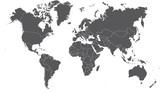 Ilustracja kolorowe mapy świata
