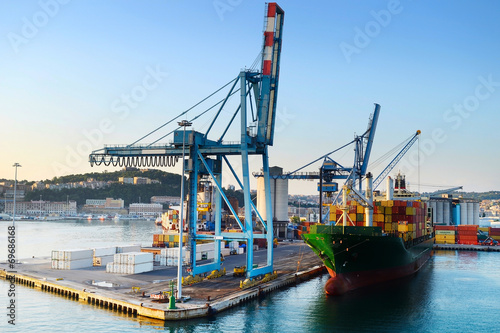 Leinwandbild Motiv Ancona port