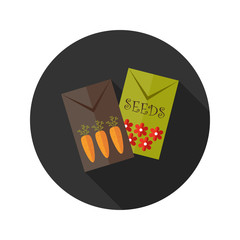 Carrot and Flower Seeds flat icon