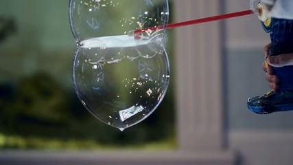 swirling soap bubbles