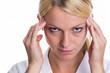 canvas print picture - Frau mit Kopfschmerzen