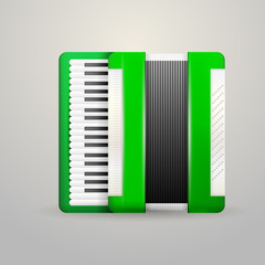 Illustration of green accordion