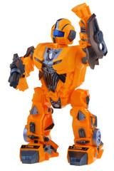 Futuristic orange robot