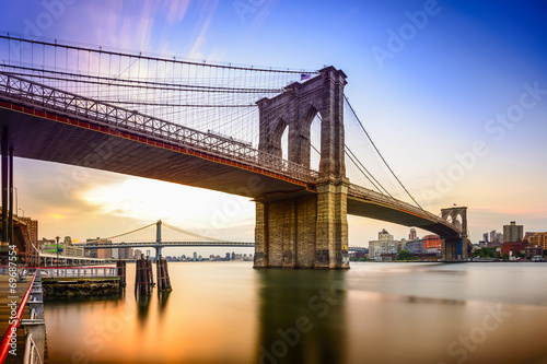 Staande foto Brug Brooklyn Bridge, New York City, USA