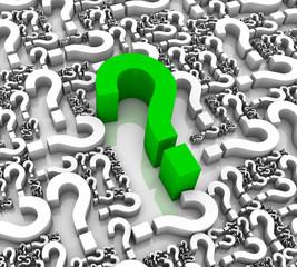 Grren Question Mark