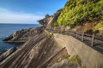 Kumano, Japan at Onigajo Rocks