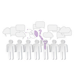 Business charts teamwork  and team leader vector