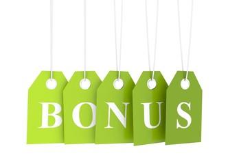 Bonus - green hanging labels