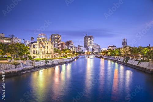 Foto op Plexiglas Japan Hiroshima, Japan City Skyline