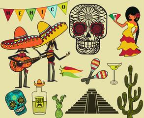 Mexico Clip Art and Symbols
