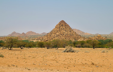 mounds of stone in Damaraland