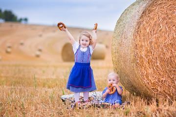 Sweet kids during Oktoberfest