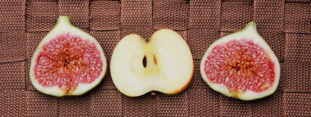 Apfel und Feigen