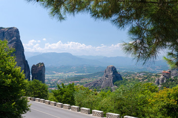 Greece, the road in Meteora