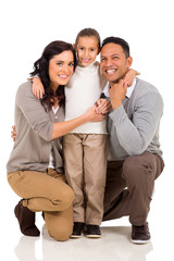little girl with her parents