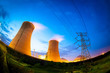 Thermal power plant at night