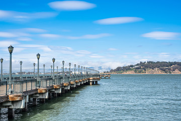 Pier in San Francisco, California. USA