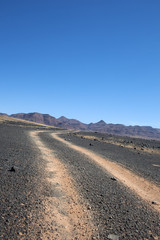 Strada nel deserto Namibiano