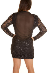 back sequin designs sheer