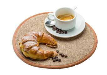 Hot fresh espresso