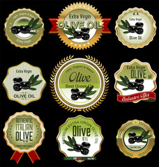 Olive labels set