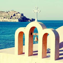 Little classical orthodox Greek church(Crete,Greece)