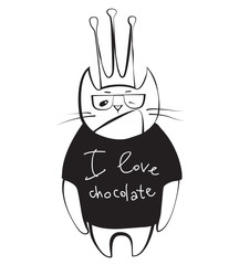 cat chocolate lover