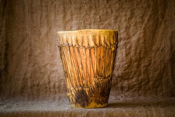 Handmade djembe drum
