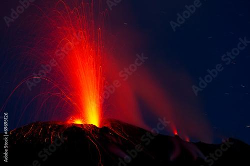 Leinwanddruck Bild Eruption - Vulkanausbruch
