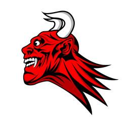 devil satan head mascot