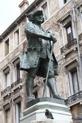 Statue of Carlo Goldoni - Venetian architecture