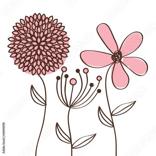 Naklejka flowers desing