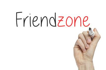 Hand writing friendzone