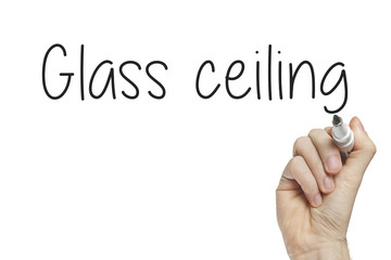 Hand writing glass ceiling