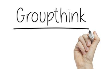 Hand writing groupthink
