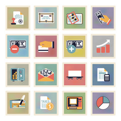 Finance modern color icons.